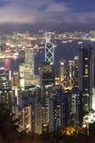 Arquitectura da cidade de Hong Kong Imagens de Stock Royalty Free