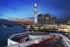 Arquitectura da cidade de Hong Kong Foto de Stock Royalty Free