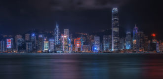 Arquitectura da cidade de Hong Kong imagens de stock