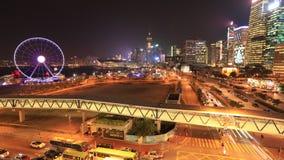 Arquitectura da cidade de Hong Kong video estoque