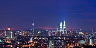 Arquitectura da cidade de Kuala Lumpur Fotos de Stock Royalty Free