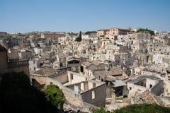 Arquitectura da cidade de Matera dos di de Sassi Fotos de Stock