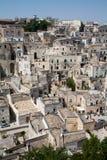 Arquitectura da cidade de Matera dos di de Sassi Imagens de Stock Royalty Free