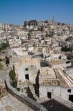Arquitectura da cidade de Matera dos di de Sassi Foto de Stock