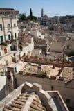 Arquitectura da cidade de Matera dos di de Sassi Imagem de Stock