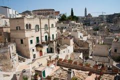 Arquitectura da cidade de Matera dos di de Sassi Fotos de Stock Royalty Free