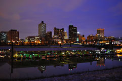 Arquitectura da cidade de Memphis fotografia de stock