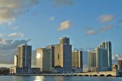 Arquitectura da cidade de Miami Fotos de Stock