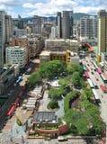 Arquitectura da cidade de Mongkok, Hong Kong. fotografia de stock royalty free
