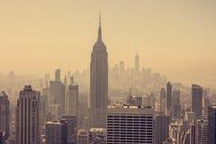 A arquitectura da cidade de New York City Imagem de Stock