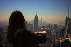 A arquitectura da cidade de New York City Fotos de Stock Royalty Free