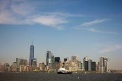 A arquitectura da cidade de New York City Fotografia de Stock