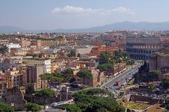 Arquitectura da cidade de Roma Foto de Stock