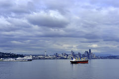 Arquitectura da cidade de Seattle Foto de Stock Royalty Free