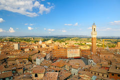 Arquitectura da cidade de Siena Fotos de Stock