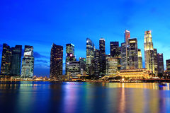 Arquitectura da cidade de Singapore foto de stock royalty free