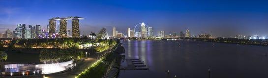 Arquitectura da cidade de Singapura Imagens de Stock Royalty Free