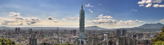 Arquitectura da cidade de Taipei Fotografia de Stock