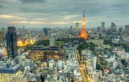 Arquitectura da cidade de Tokyo Fotografia de Stock Royalty Free