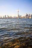 Arquitectura da cidade de Toronto durante o por do sol Imagem de Stock
