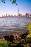 Arquitectura da cidade de Toronto durante o por do sol Fotografia de Stock