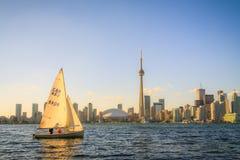 Arquitectura da cidade de Toronto durante o por do sol Foto de Stock