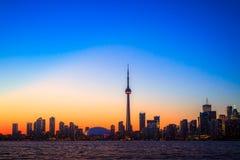 Arquitectura da cidade de Toronto durante o por do sol Foto de Stock Royalty Free