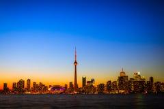 Arquitectura da cidade de Toronto durante o por do sol Imagem de Stock Royalty Free