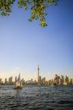 Arquitectura da cidade de Toronto durante o por do sol Fotos de Stock