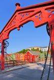 Arquitectura da cidade de Trondheim, Noruega Fotografia de Stock Royalty Free