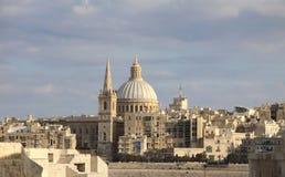 Arquitectura da cidade de Valletta Fotografia de Stock
