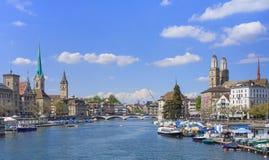 Arquitectura da cidade de Zurique Foto de Stock Royalty Free