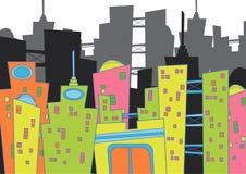 Arquitectura da cidade do divertimento ilustração stock