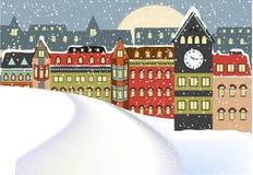 Arquitectura da cidade do inverno Foto de Stock