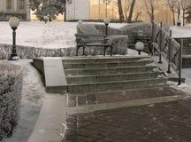 Arquitectura da cidade do inverno Fotografia de Stock Royalty Free