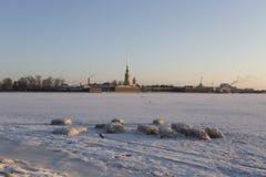 Arquitectura da cidade do inverno Fotos de Stock