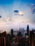 Arquitectura da cidade dos arranha-céus Fotografia de Stock