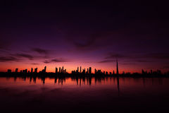 Arquitectura da cidade Dubai Imagem de Stock