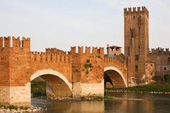 Arquitectura da cidade italiana. Verona. Foto de Stock Royalty Free