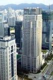 Arquitectura da cidade moderna da metrópole Imagem de Stock
