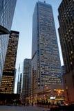 Arquitectura da cidade no crepúsculo Fotografia de Stock Royalty Free