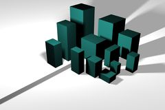 Arquitectura da cidade no formulário abstrato - título para Targe Fotografia de Stock