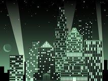 Arquitectura da cidade no nighttime Imagens de Stock Royalty Free