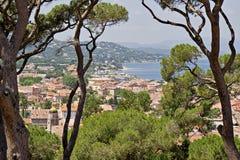 Arquitectura da cidade St-Tropez Fotografia de Stock Royalty Free