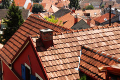 Arquitectura da cidade telhada do telhado Fotos de Stock Royalty Free