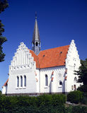 Arquitectura danesa típica de la iglesia Fotografía de archivo