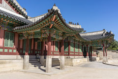 Arquitectura de Changdeokgung foto de archivo