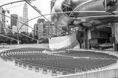 Arquitectura de Chicago, parque del milenio, Jay Prit imagen de archivo libre de regalías