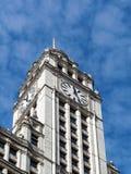 Arquitectura de Chicago, torre de reloj del edificio de Wrigley fotografía de archivo libre de regalías