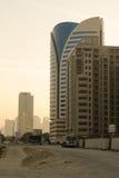 Arquitectura de cristal de Oriente Medio de los edificios del tecom de Dubai, Dubai Imagen de archivo libre de regalías
